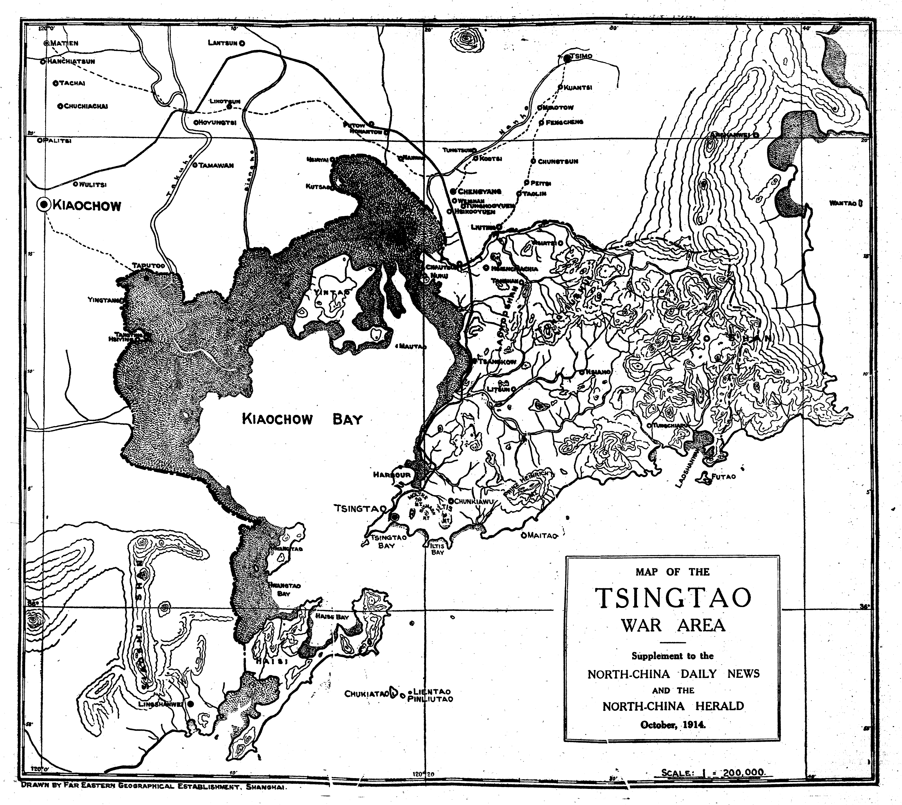 World War 1 Map Black And White. Share this  China Rhyming Blog Archive The Siege of Tsingtao October