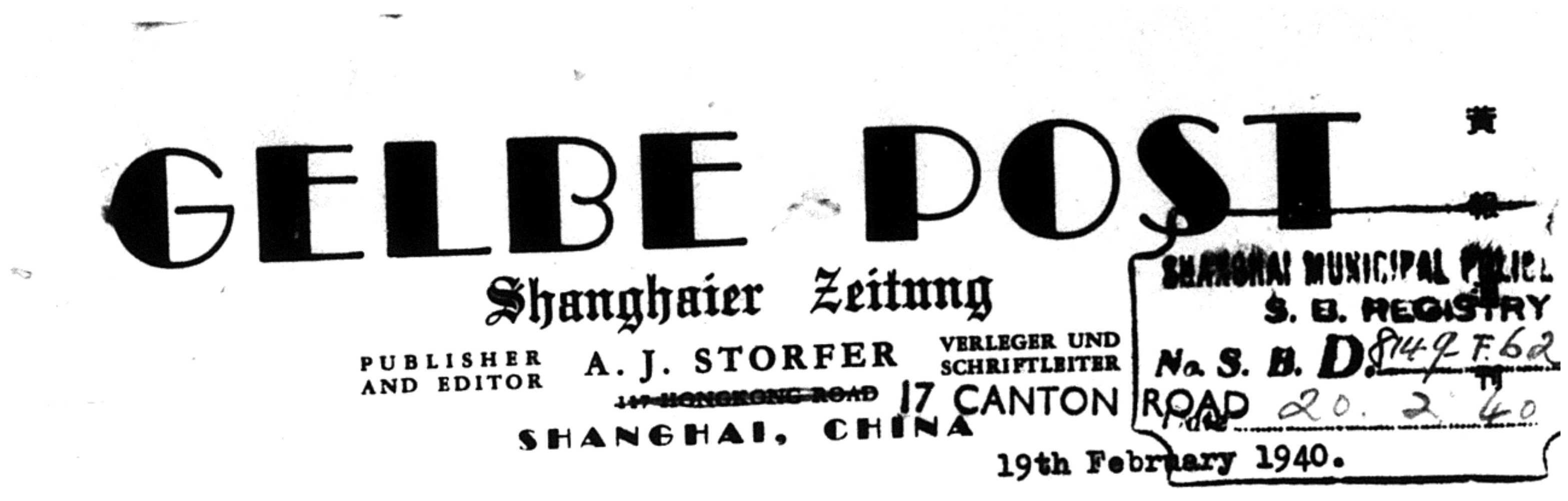 Gelbe Post headed paper 1940