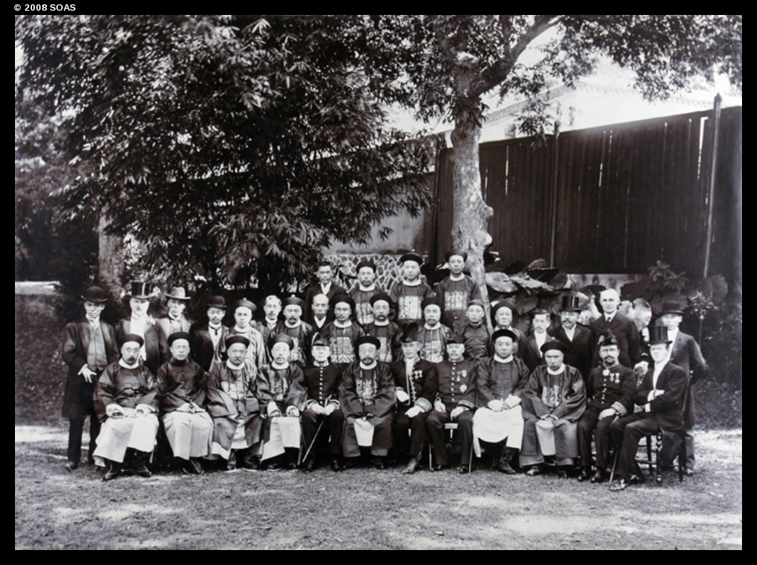 front row, fifth from left, is British Consul E.T.C. Werner