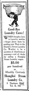 Shanghai Steam Laundry Co Ad 2