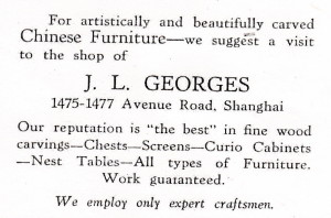 JL Georges - Avenue Rd - 1930